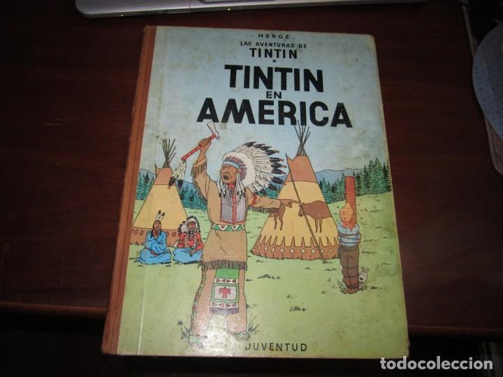 LAS AVENTURAS DE TINTIN -TINTIN EN AMERICA --HERGE 1968 BARCELONA 1º EDICION (Tebeos y Comics - Juventud - Tintín)