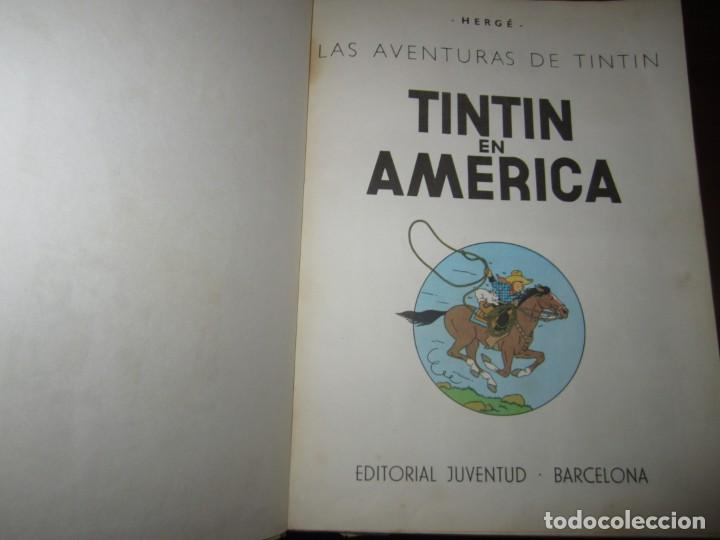 Cómics: LAS AVENTURAS DE TINTIN -TINTIN EN AMERICA --HERGE 1968 BARCELONA 1º EDICION - Foto 3 - 269172743
