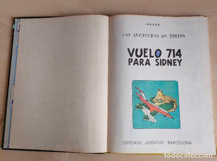 Cómics: Tintin Vuelo 714 para Sidney. 1ª edición. Ed. Juventud. lomo de tela. Buen estado. - Foto 4 - 269682603