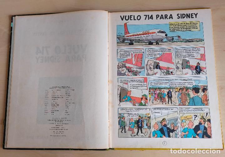 Cómics: Tintin Vuelo 714 para Sidney. 1ª edición. Ed. Juventud. lomo de tela. Buen estado. - Foto 5 - 269682603