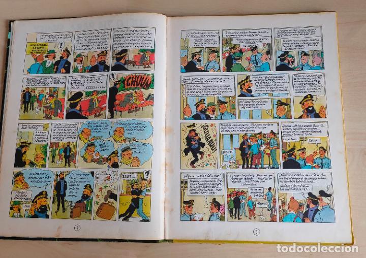 Cómics: Tintin Vuelo 714 para Sidney. 1ª edición. Ed. Juventud. lomo de tela. Buen estado. - Foto 6 - 269682603
