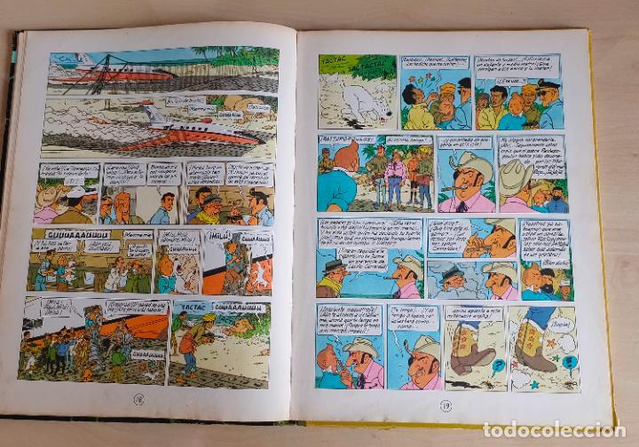 Cómics: Tintin Vuelo 714 para Sidney. 1ª edición. Ed. Juventud. lomo de tela. Buen estado. - Foto 12 - 269682603