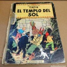 Cómics: TINTIN.EL TEMPLO DEL SOL. LOMO TELA. SEGUNDA EDICIÓN. Lote 270163368