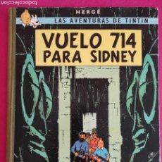 Cómics: HERGE. VUELO 714 PARA SIDNEY. LAS AVENTURAS DE TINTIN. JUVENTUD,1969. 1° EDICION.. Lote 271554758