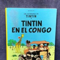 Cómics: LAS AVENTURAS DE TINTIN EN EL CONGO HERGE ED JUVENTUD 15 EDICION 1996 30X22,5CMS. Lote 271645163