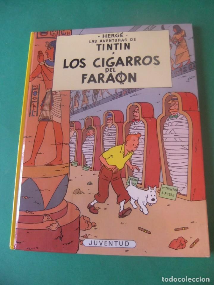 LAS AVENTURAS DE TINTIN LOS CIGARROS DEL FARAON JUVENTUD 1985 (Tebeos y Comics - Juventud - Tintín)