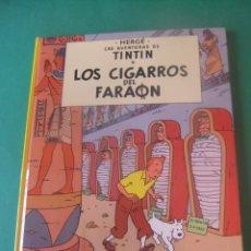 Cómics: LAS AVENTURAS DE TINTIN LOS CIGARROS DEL FARAON JUVENTUD 1985. Lote 272375418
