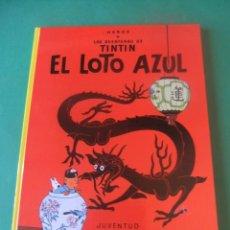 Cómics: LAS AVENTURAS DE TINTIN EL LOTO AZUL EDITORIAL JUVENTUD 1988. Lote 272376328