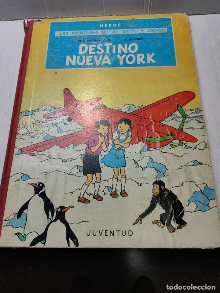 COMIC DESTINO NUEVA YORK EDITORIAL JUVENTUD PRIMERA EDICIÓN 1970 LOMO TELA (Tebeos y Comics - Juventud - Otros)
