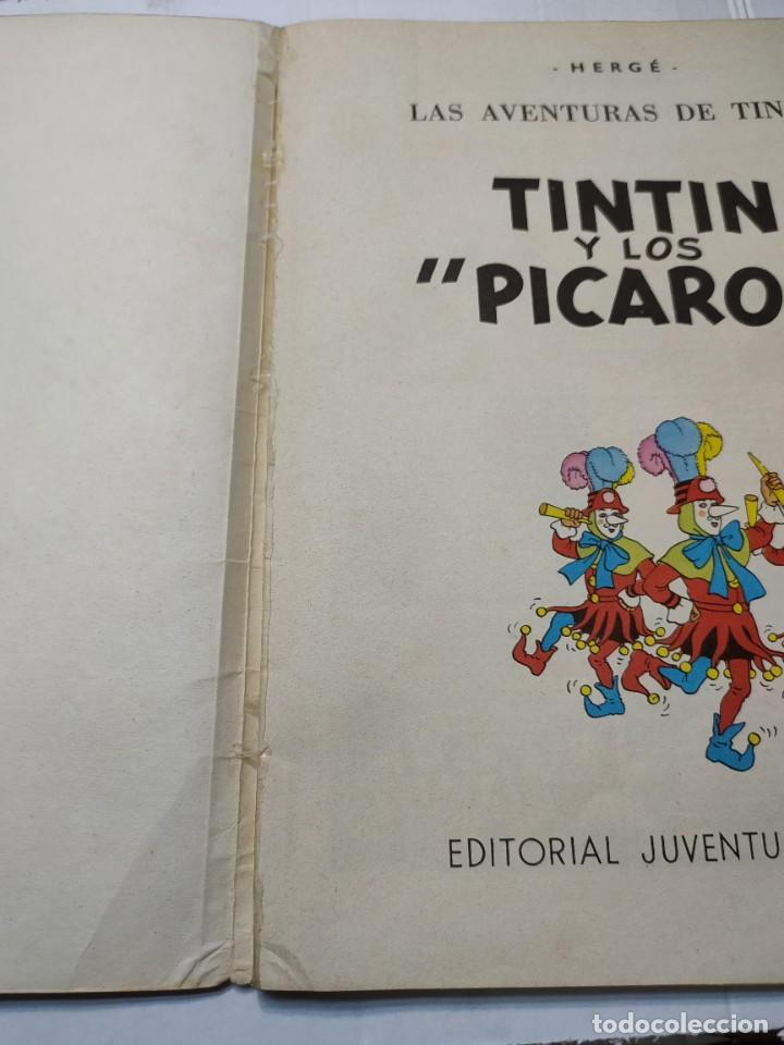 Cómics: Tintin y Los Picaros primera edición Juventud tapa blanda 1976 difícil - Foto 2 - 273449088