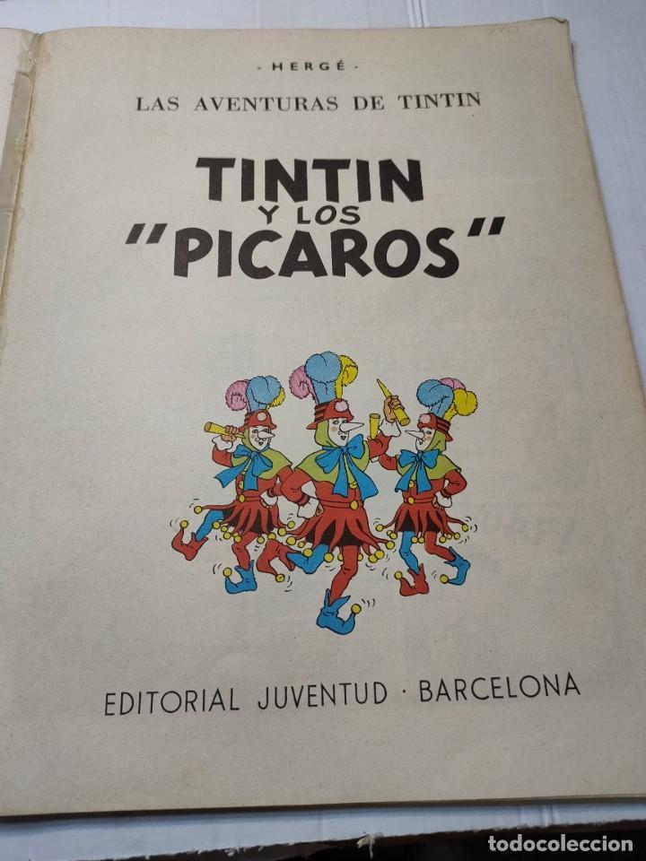 Cómics: Tintin y Los Picaros primera edición Juventud tapa blanda 1976 difícil - Foto 3 - 273449088