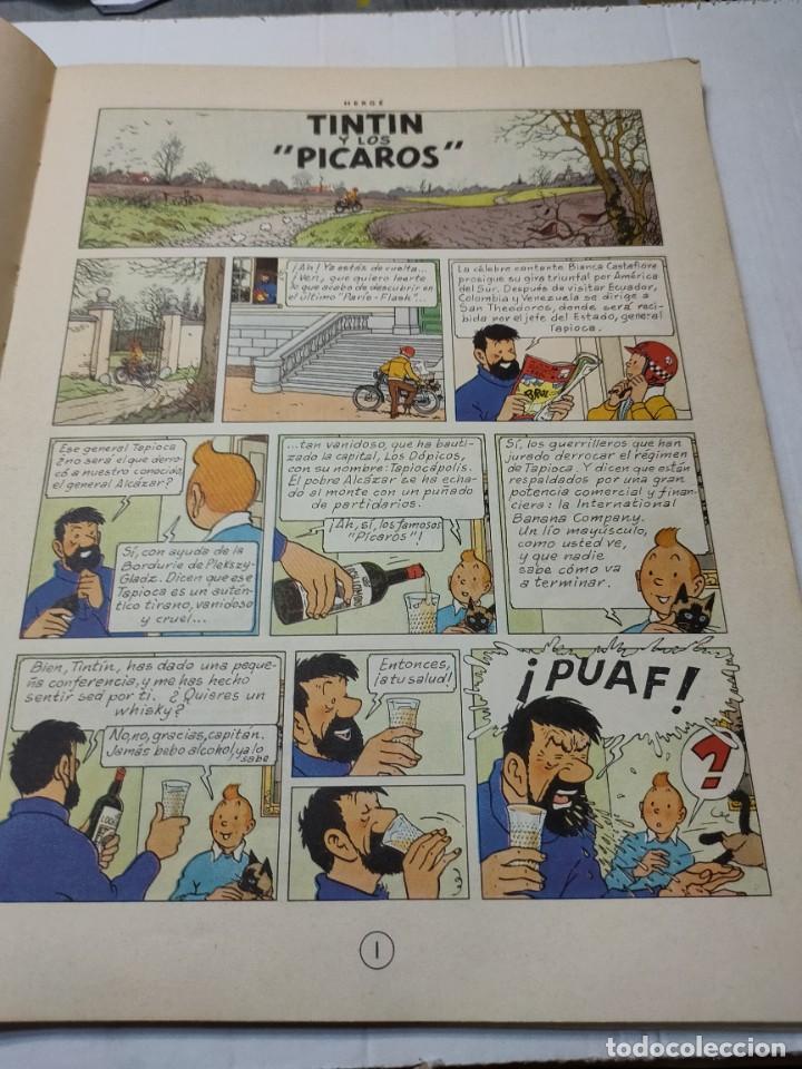 Cómics: Tintin y Los Picaros primera edición Juventud tapa blanda 1976 difícil - Foto 5 - 273449088