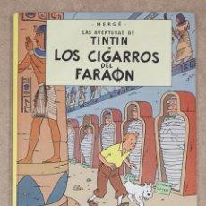 Cómics: TINTIN. LOS CIGARROS DEL FARAON. HERGE. JUVENTUD. 10ª EDICION. 1986. TAPA DURA.. Lote 275858628