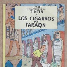 Cómics: TINTIN. LOS CIGARROS DEL FARAON. HERGE. JUVENTUD. 7ª EDICION. 1981. TAPA DURA.. Lote 275860293