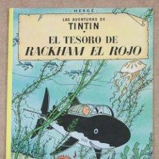 Cómics: TINTIN. EL TESORO DE RAKHAM EL ROJO. HERGE. JUVENTUD. 9ª EDICION. 1982. TAPA BLANDA.. Lote 275862393