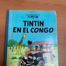 Comics : LAS AVENTURAS DE TINTÍN. TINTÍN EN EL CONGO. HERGÉ.1A EDICIÓN. ED. JUVENTUD. BARCELONA.1968.. Lote 276455828