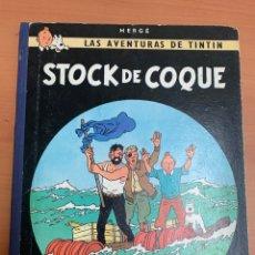 Comics : LAS AVENTURAS DE TINTÍN. STOCK DE COQUE. HERGÉ.1A EDICIÓN. EDITORIAL JUVENTUD. BARCELONA. 1962.. Lote 276457178