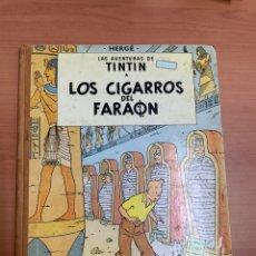 Comics : LAS AVENTURAS DE TINTÍN. LOS CIGARROS DEL FARAÓN. HERGÉ. 1A EDICIÓN. EDITORIAL JUVENTUD. BARCELONA. Lote 276460368