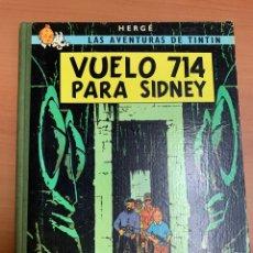 Comics : LAS AVENTURAS DE TINTÍN. VUELO 714 PARA SIDNEY. 1A EDICIÓN 1969. EDITORIAL JUVENTUD BARCELONA.. Lote 276467543