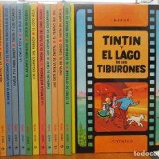 Cómics: LAS AVENTURAS DE TINTIN - COLECCION COMPLETA 11 TOMOS CIRCULO + DICCIONARIO + TIBURONES + ART BOOK. Lote 276652723