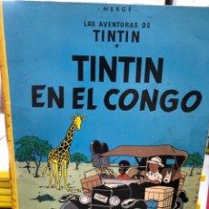 Cómics: HERGÉ - LAS AVENTURAS DE TINTIN - JUVENTUD - EN EL CONGO 1980. Lote 277014318