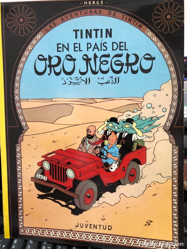 HERGÉ - LAS AVENTURAS DE TINTIN - JUVENTUD - EN EL PAIS DEL ORO NEGRO - TAPA BLANDA 1987 (Tebeos y Comics - Juventud - Tintín)