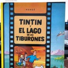 Cómics: HERGÉ - LAS AVENTURAS DE TINTIN - JUVENTUD - 2003 EL LAGO DE LOS TIBURONES. Lote 277026653