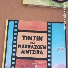 Cómics: TINTÍN ETA MARRAZOEN AINTZIRA 1ª EDICIÓN DEL AÑO 1990 IDIOMA EUSKERA. Lote 277661853