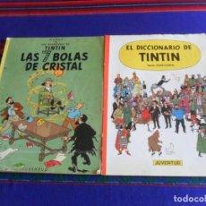Cómics: EL DICCIONARIO DE TINTIN 1ª PRIMERA EDICIÓN. JUVENTUD 1986. REGALO LAS 7 BOLAS DE CRISTAL 4ª 1975.. Lote 277680223