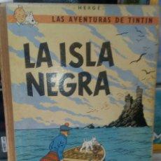 Cómics: TINTÍN LA ISLA NEGRA SEGUNDA EDICIÓN AÑO 1967. LOMO DE TELA. JUVENTUD. Lote 277704168