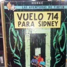 Cómics: TINTÍN VUELO 714 PARA SIDNEY. PRIMERA EDICIÓN AÑO 1969. LOMO DE TELA.. Lote 277707253