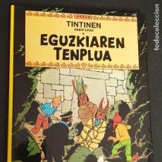 Cómics: EGUZKIAREN TENPLUA TINTINEN ABENTURAK HERGÉ ELKAR AÑO 1988 EN EUSKERA. Lote 277749968