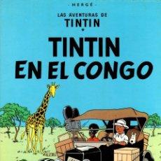 Cómics: TINTIN EN EL CONGO. LAS AVENTURAS DE TINTIN. 9ª EDICION. AÑO 1987. Lote 278176818
