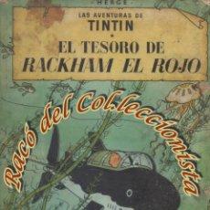 Cómics: TINTIN EL TESORO DE RACKHAM EL ROJO, HERGE, JUVENTUD LOMO TELA, 1A. EDICION, 1960. Lote 278192383