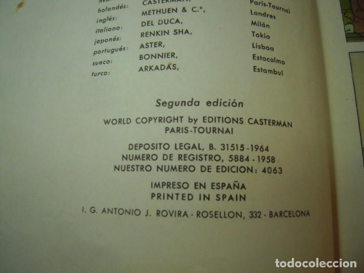 Cómics: las aventuras de tintin el cetro de ottokar 2º ediccion juventud 1964 - Foto 2 - 278274273