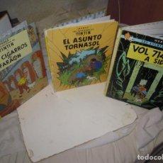 Cómics: LOTE TINTIN CIGARROS DEL FARAÓN, ASUNTO TORNASOL +REGALO VOL 714 (CATALÁ),. Lote 278285663