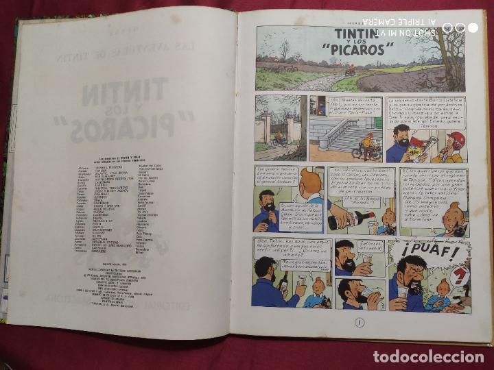 Cómics: TINTIN Y LOS PICAROS. EDITORIAL JUVENTUD. 2ª EDICION 1980 - Foto 3 - 278288133