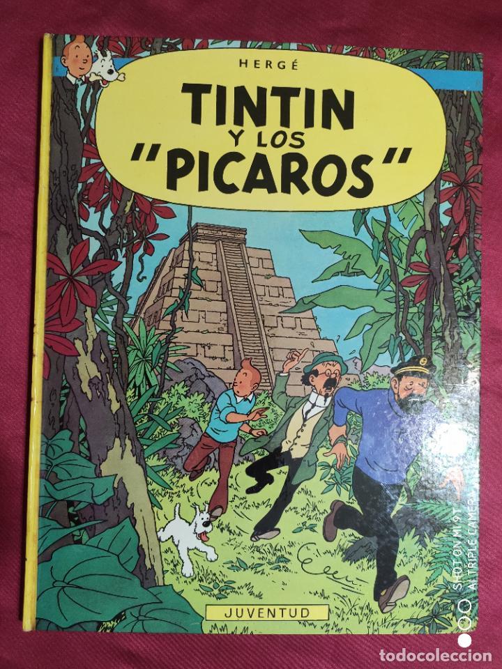 TINTIN Y LOS PICAROS. EDITORIAL JUVENTUD. 2ª EDICION 1980 (Tebeos y Comics - Juventud - Tintín)