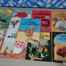 Cómics: LOTE 9 COMICS DE TINTIN ANTIGUOS, HERGÉ, EDICIONES DEL PRADO, FRANCES, ¡OPORTUNIDAD!.. Lote 278301563