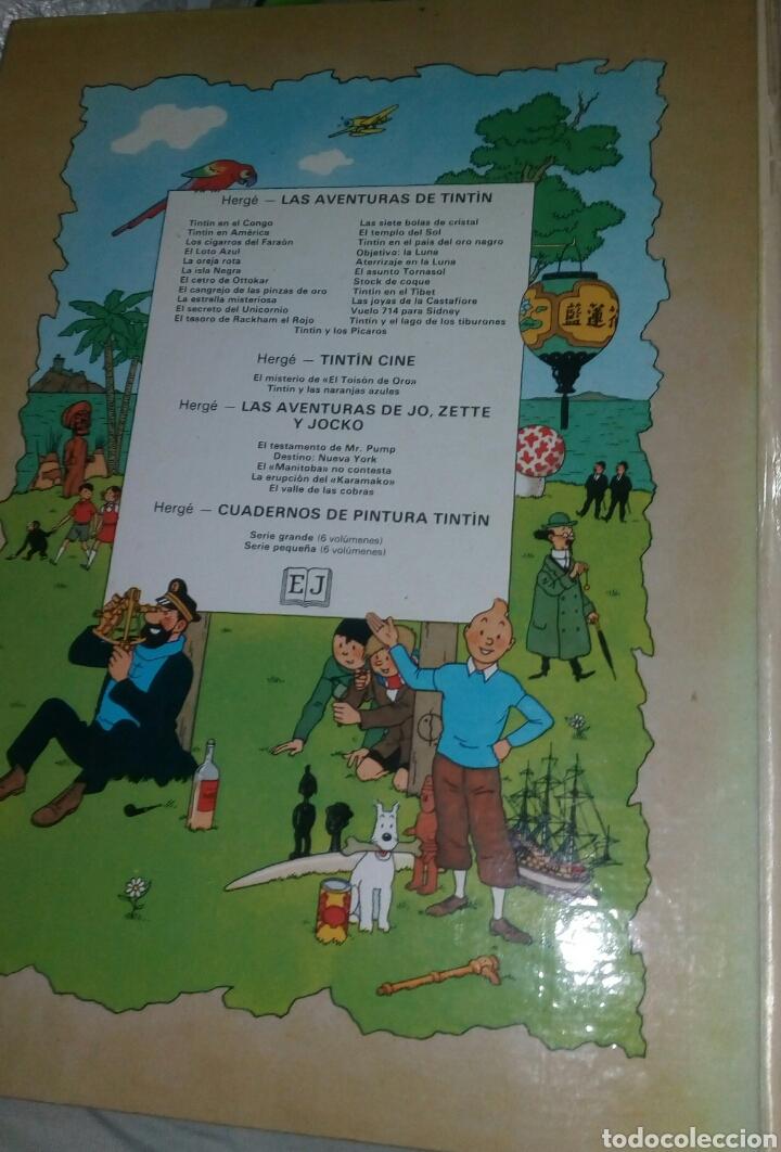 Cómics: TINTIN - LOS CIGARROS DEL FARAON. JUVENTUD. 5ª EDICION. 1977. TAPA DURA. LOMO BLANCO. - Foto 3 - 278626118