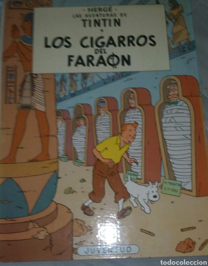 TINTIN - LOS CIGARROS DEL FARAON. JUVENTUD. 5ª EDICION. 1977. TAPA DURA. LOMO BLANCO. (Tebeos y Comics - Juventud - Tintín)