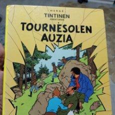 Cómics: TINTINES ABENTURAK TOURNESOLEN AUZIA EUSKERA 1989. Lote 285633848