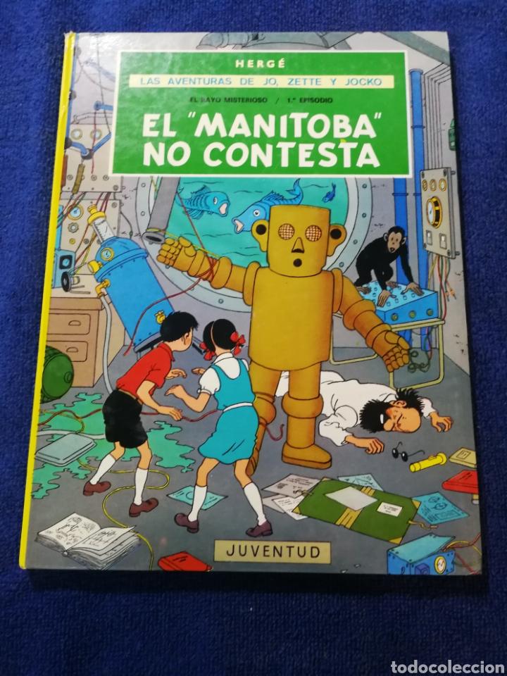 LAS AVENTURAS DE JO, ZETTE Y JOCKO. EL MANITOBA NO CONTESTA. HERGE. JUVENTUD. EL RAYO MISTERIOSO (Tebeos y Comics - Juventud - Otros)