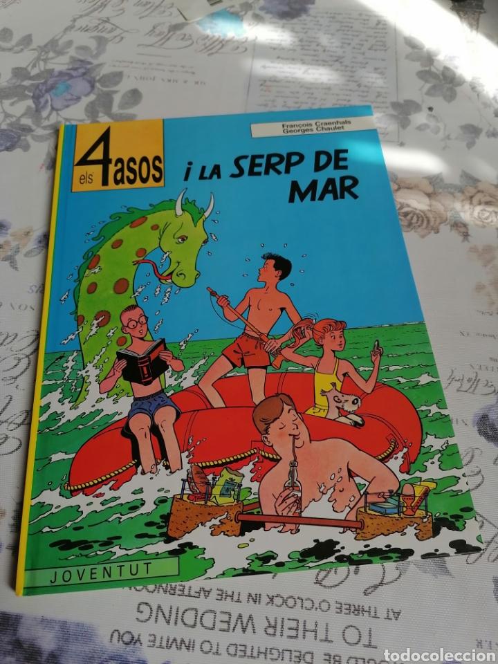 Cómics: ELS 4 ASOS I LA SERP DE MAR EDITORIAL JOVENTUT EN CATALÀ - Foto 2 - 287493283