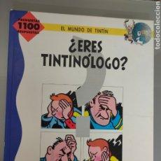Cómics: TINTIN ¿ERES TINTINOLOGO? JUVENTUD 1991 PREGUNTAS 110 RESPUESTAS. Lote 288108433