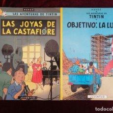 Cómics: LAS AVENTURAS DE TINTIN - LAS JOYAS DE LA CASTAFIORE Y OBJETIVO LA LUNA. Lote 288155103
