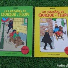Cómics: LAS HAZAÑAS DE QUIQUE Y FLUPI TOMO Nº 1 Y 2 HERGÉ, TAPA BLANDA, ED. JUVENTUD, 1ª EDICIÓN 1987 TINTIN. Lote 288724193