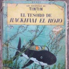 Cómics: HERGÉ - TINTIN EL TESORO DE RACKHAM EL ROJO 1 EDICIÓN 1960 EN CASTELLANO. Lote 288905113
