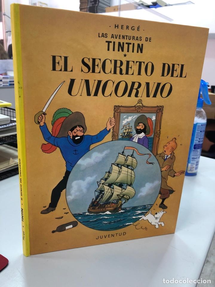 EL SECRETO DEL UNICORNIO - TINTIN - HERGE - JUVENTUD - 1990 TAPA DURA (Tebeos y Comics - Juventud - Tintín)