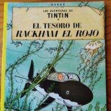 Cómics: LAS AVENTURAS DE TINTIN. EL TESORO DE RACKHAM EL ROJO - JUVENTUD ALBUM RUSTICA. Lote 292619408
